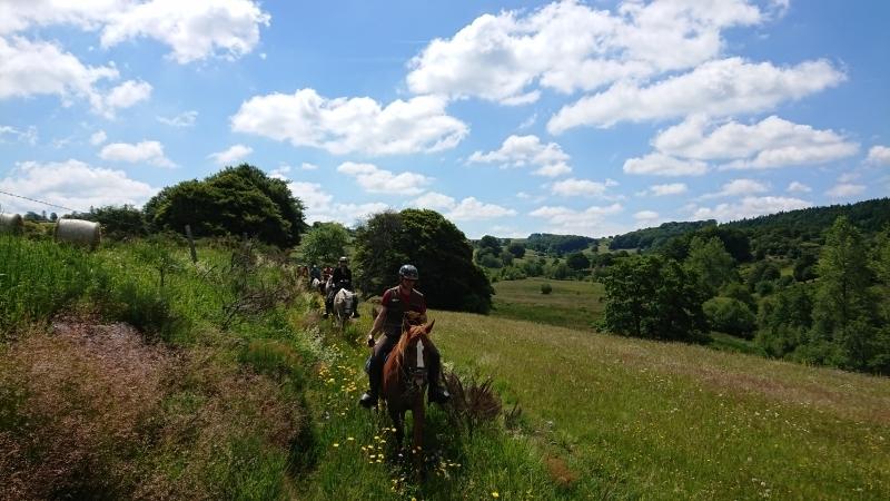 randonnee cheval cevennes auvergne 2018  (9)