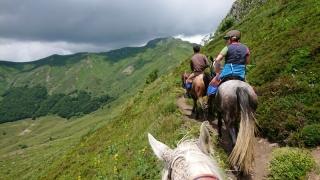 randonnee cheval cevennes auvergne 2018  (16)