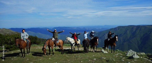 randonnée cheval cevennes mont aigoual